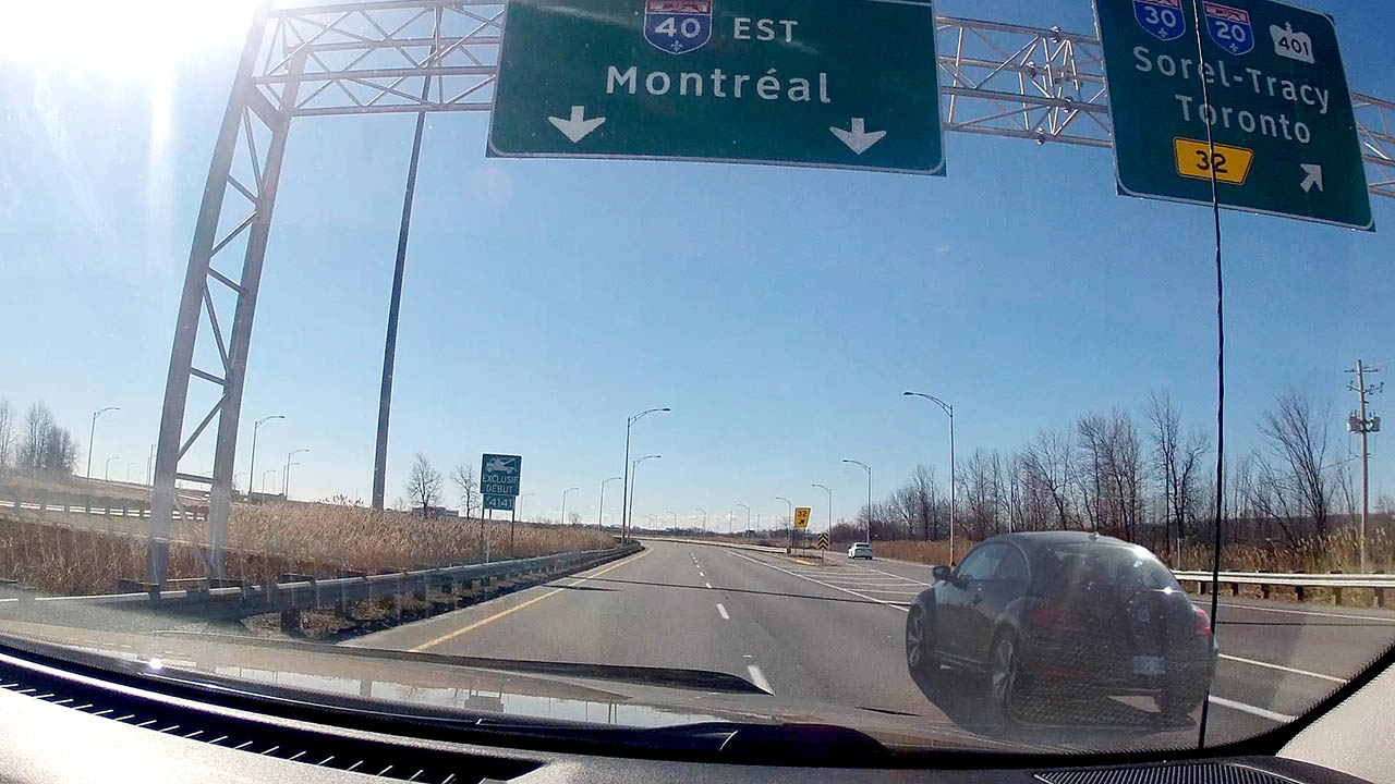 GoPro Hero 4 Black Time Lapse - Road Trip to Montreal Canada