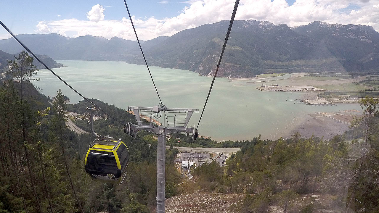 GoPro Time Lapse Up & Down the Sea to Sky Gondola in Vancouver Canada