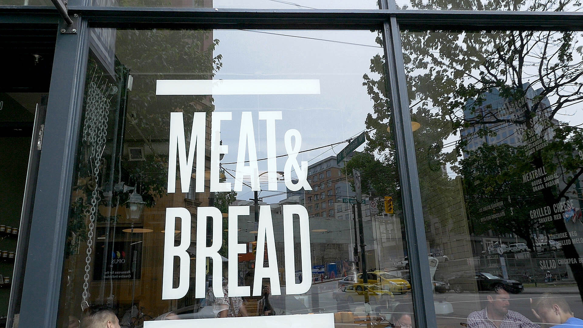 Lunch at Meat and Bread Restaurant in Vancouver Canada